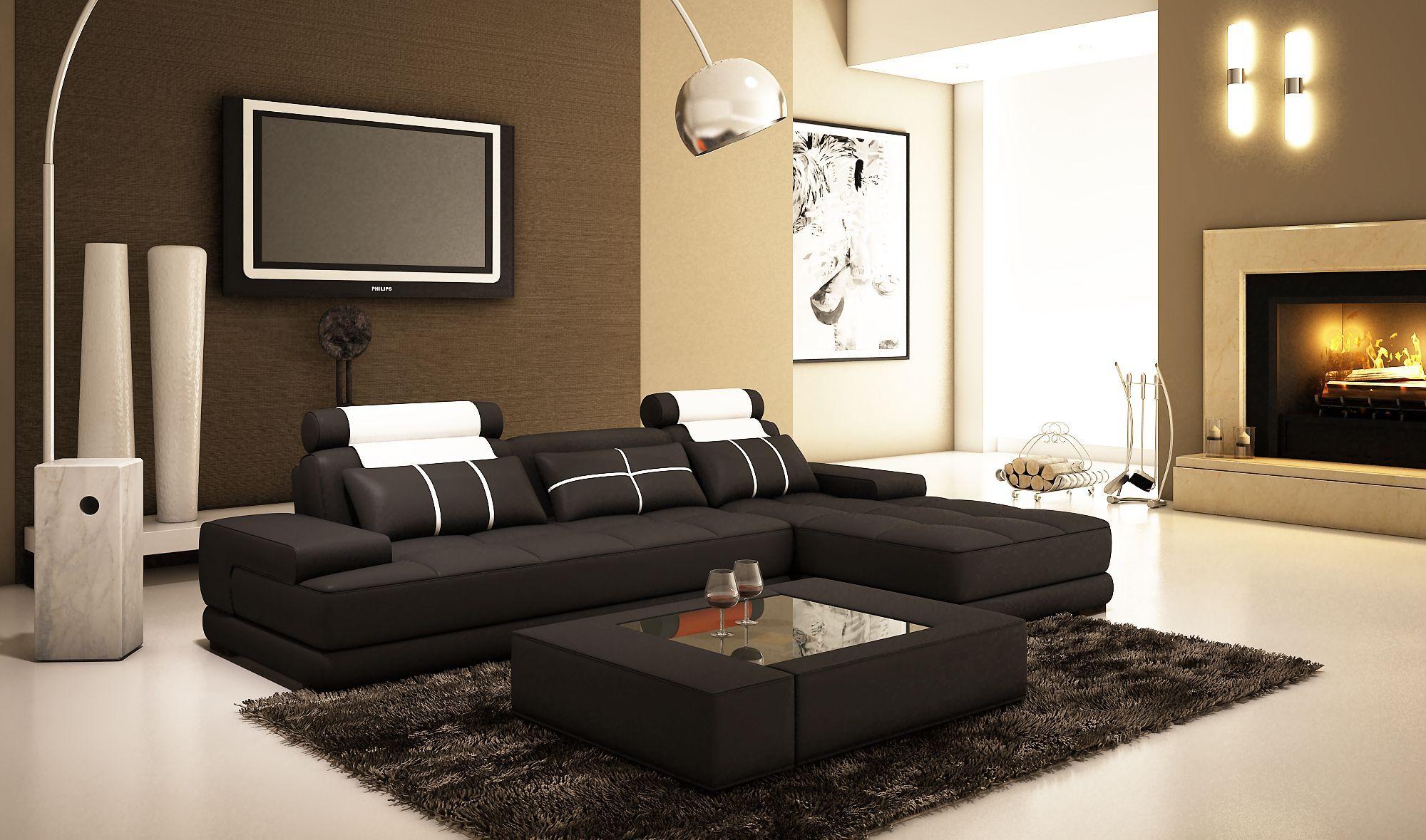 Le salon beige est une solution élégante lumineuse et agréable