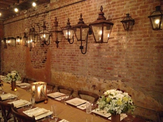 Private dinner held by absolut vodka in the bevolo gas lights museum