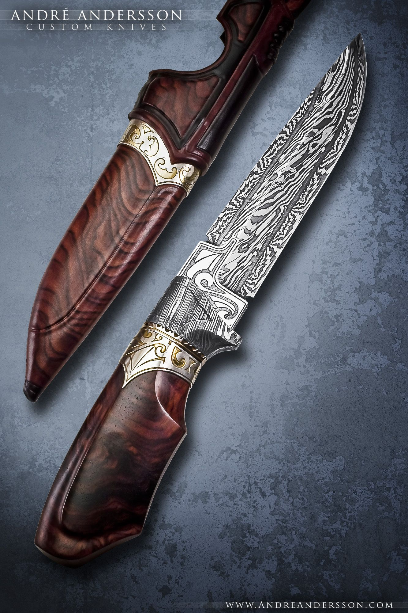 Best 25 Custom Hunting Knives Ideas On Pinterest
