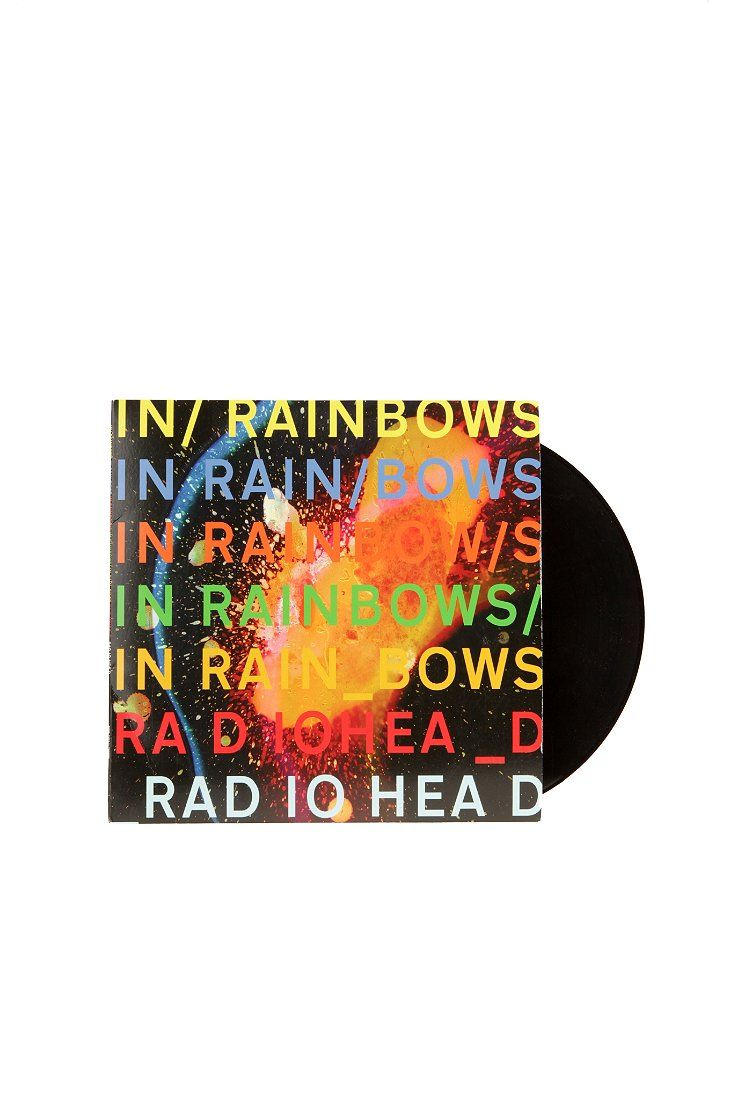 Vinyl Record Storage Shelf Radiohead Rainbows Rainbow Art
