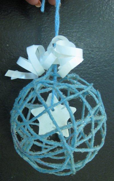 Marché de Noël 1 : la boule de laine #activitenoelenfant
