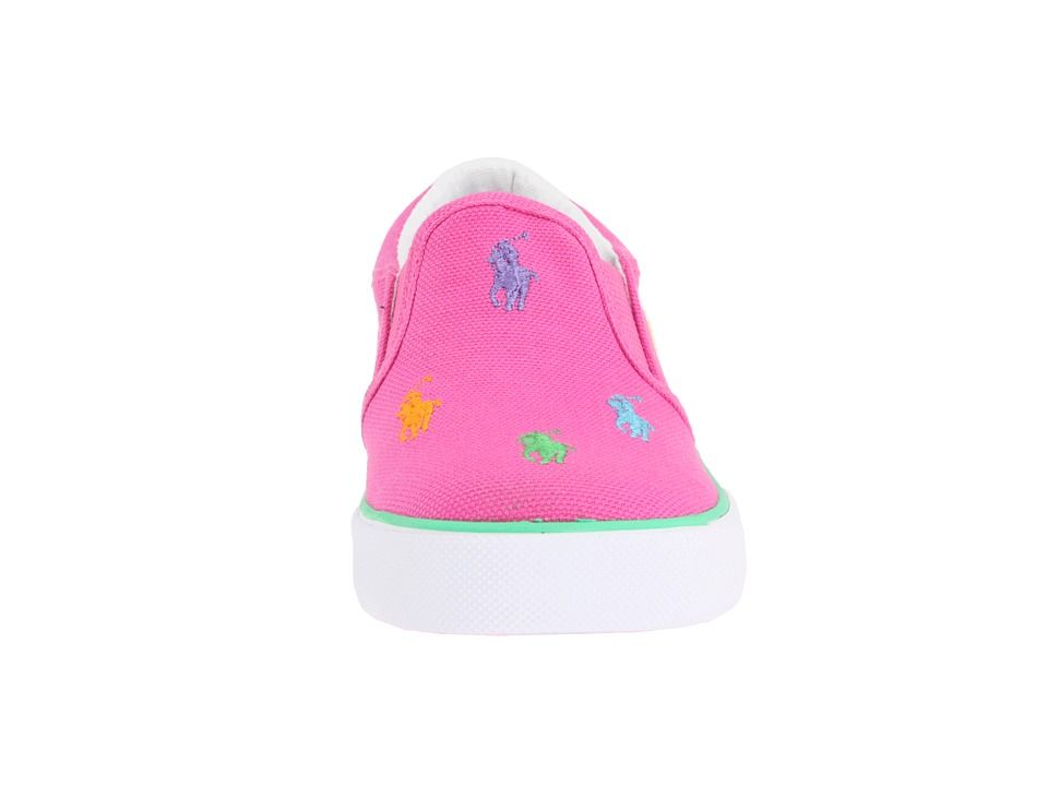 72e3d5bba Polo Ralph Lauren Kids Bal Harbour Repeat (Toddler) Girls Shoes Fuchsia  Multi Canvas