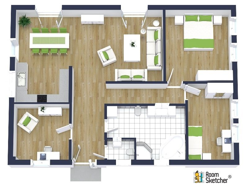 Pin by roomsketcher on real estate floor plans floor for Make your own house 3d