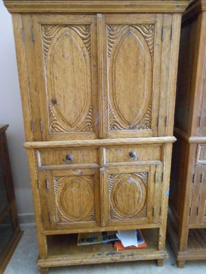 Arte De Mexico Armoire TV Cabinet Or Linen Cabinet Stunning Carvings | EBay