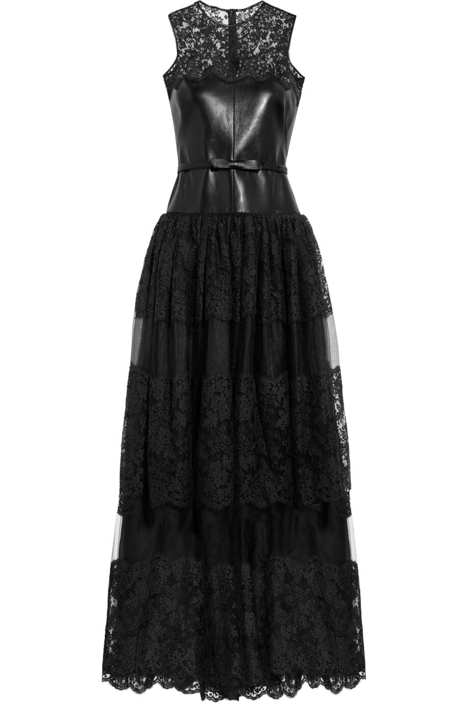 this nice black leather dress for the maid of honor nurse