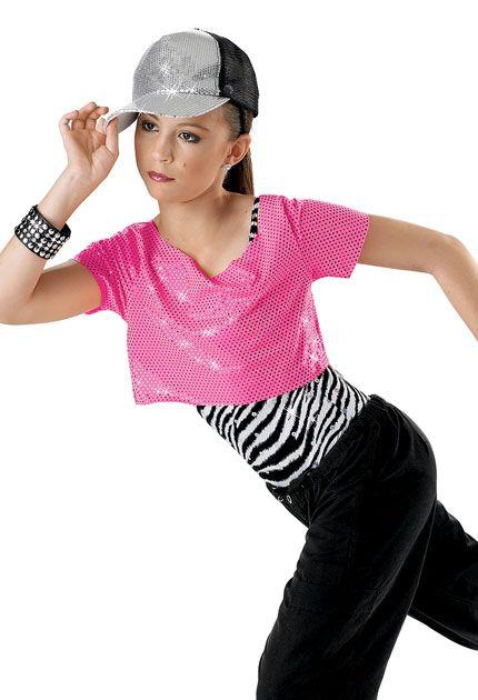 5210aac553d468 Zebra Sequin Crop Top and Pants  Weissman Costumes