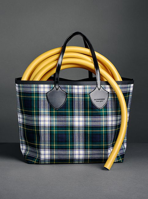 a6f29fc0f8 Burberry s runway bag. Meet The Giant