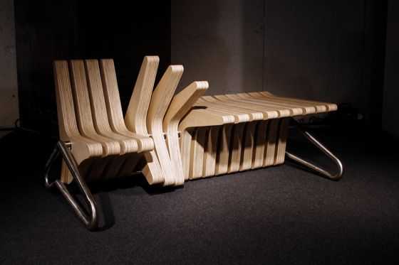 coffee bench: rotate the elements to create seating, armrests and tables #design