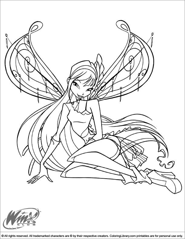 Coloriage Winx Cartoon Coloring Pages Fairy Coloring