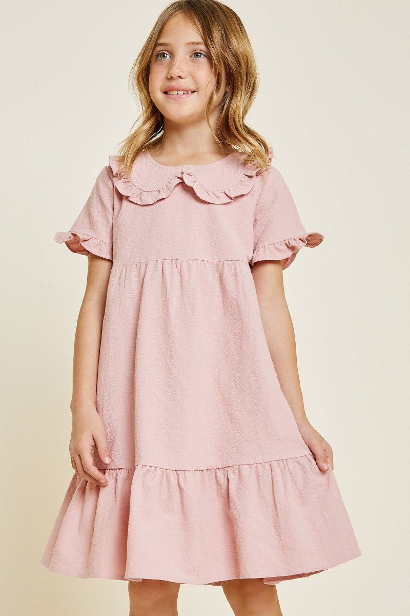 bde92e8da382 Ruffle Bib Babydoll Dress | 17th meet | Babydoll dress, Dresses ...