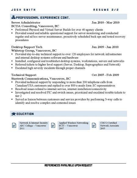IT System Administrator Resume | resume | Pinterest