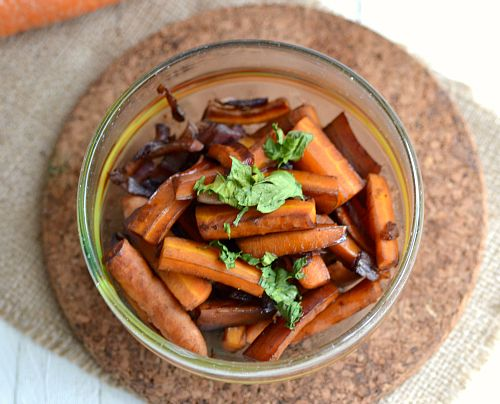 crock pot carrots, I've tried these in the oven and they took a little too long to cook. So yummy though, so I will try them in the crock.