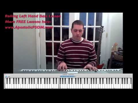 How to Play a Rolling Left Hand Bass - Pentecostal Piano