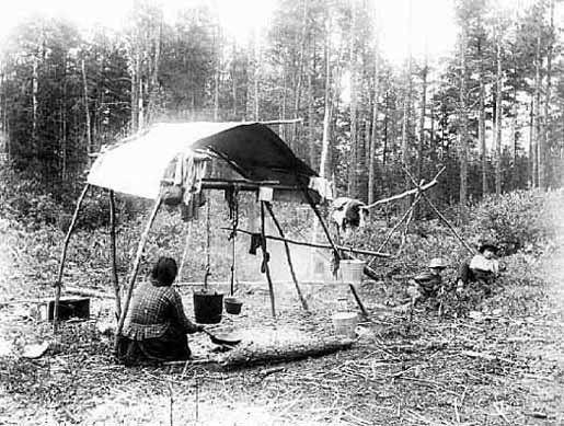 Ojibwa Family 1890 Ojibwa Native American Photos