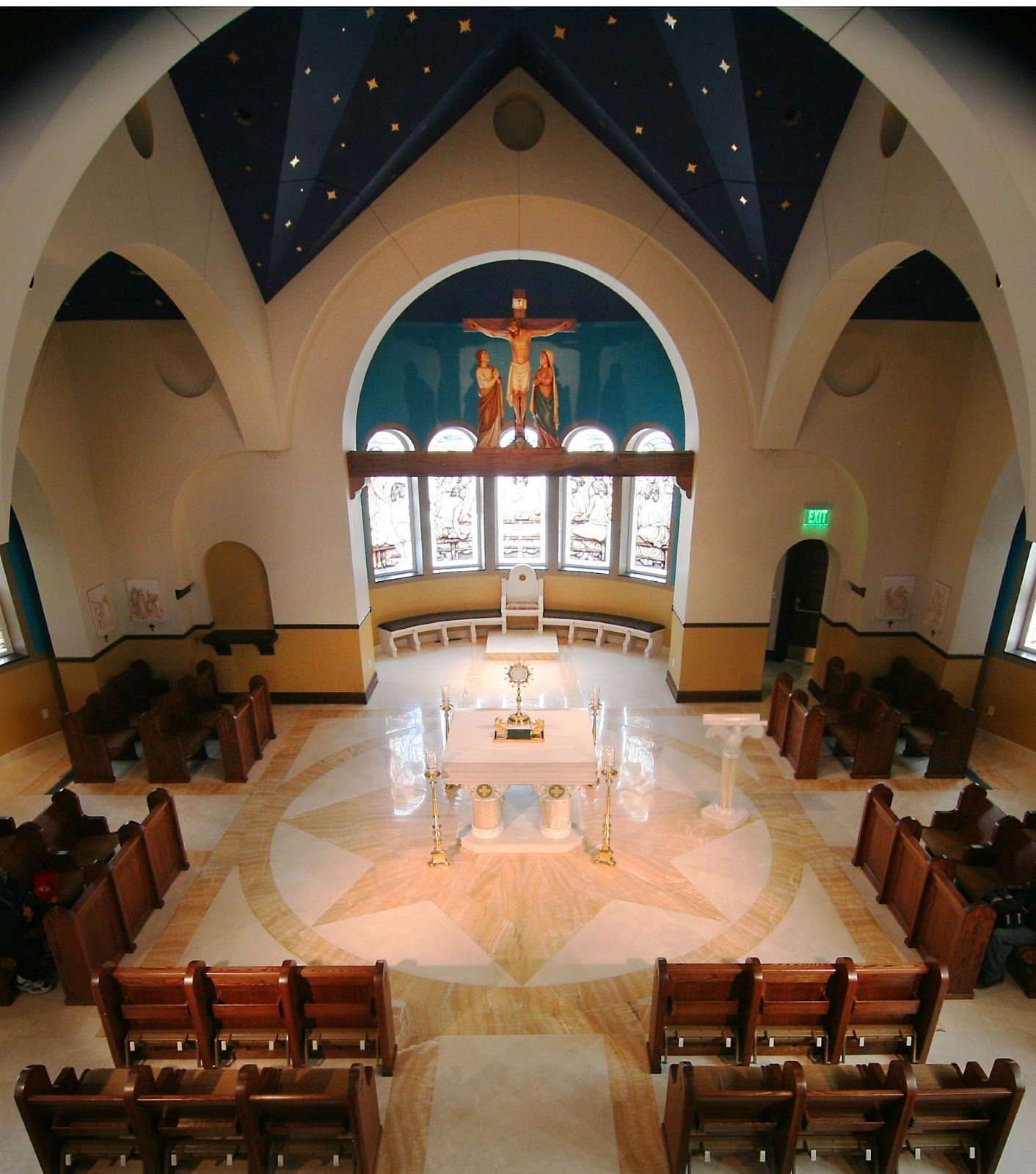 Pin By Adil Taj On Ceiling In 2019: Our Lady Of Guadalupe Adoration Chapel, Fargo, ND. New