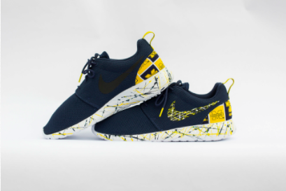 Michigan Wolverines Shoes -Nike Roshe One Custom 'Ann Arbor' Edition
