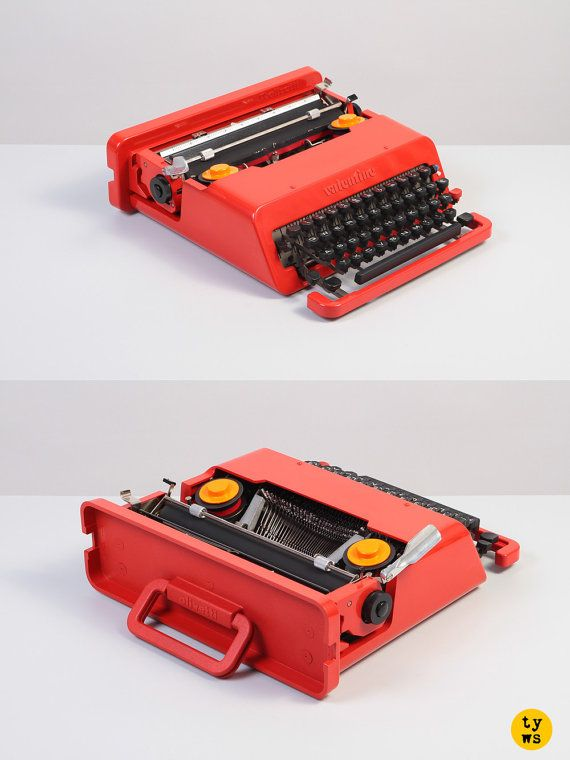 Original 1970's Olivetti Valentine, design icon of the pop culture, as featured in the MOMA collection.
