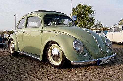 Volkswagen Type 1 by Henrik S., via Flickr - Love the hub caps and whitewalls