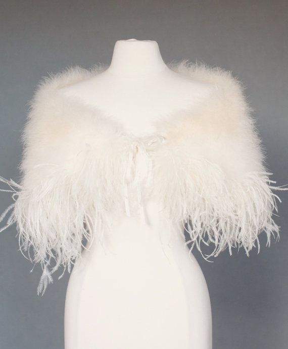 Women/'s Real Genuine Ostrich Fur Bridal Wedding Jacket Wraps Capes Party Shawl