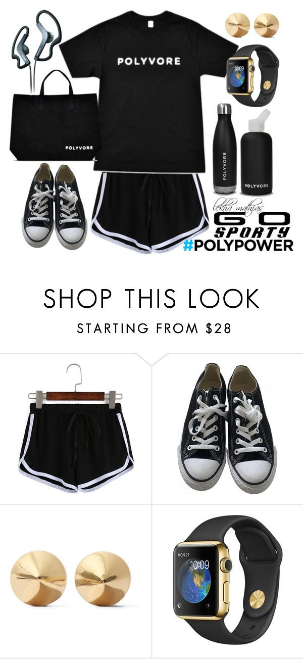 """Go Sporty"" by lekhamathias ❤ liked on Polyvore featuring Converse, bkr, Eddie Borgo, Sony, contestentry and ContestOnTheGo"