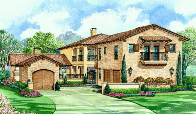 Villa Palladian House Plan Tuscan House Plans Courtyard House Monster House Plans