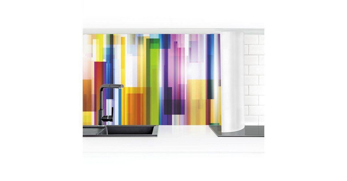 Photo of Bilderwelten Küchenrückwand »Rainbow Cubes I« | OTTO