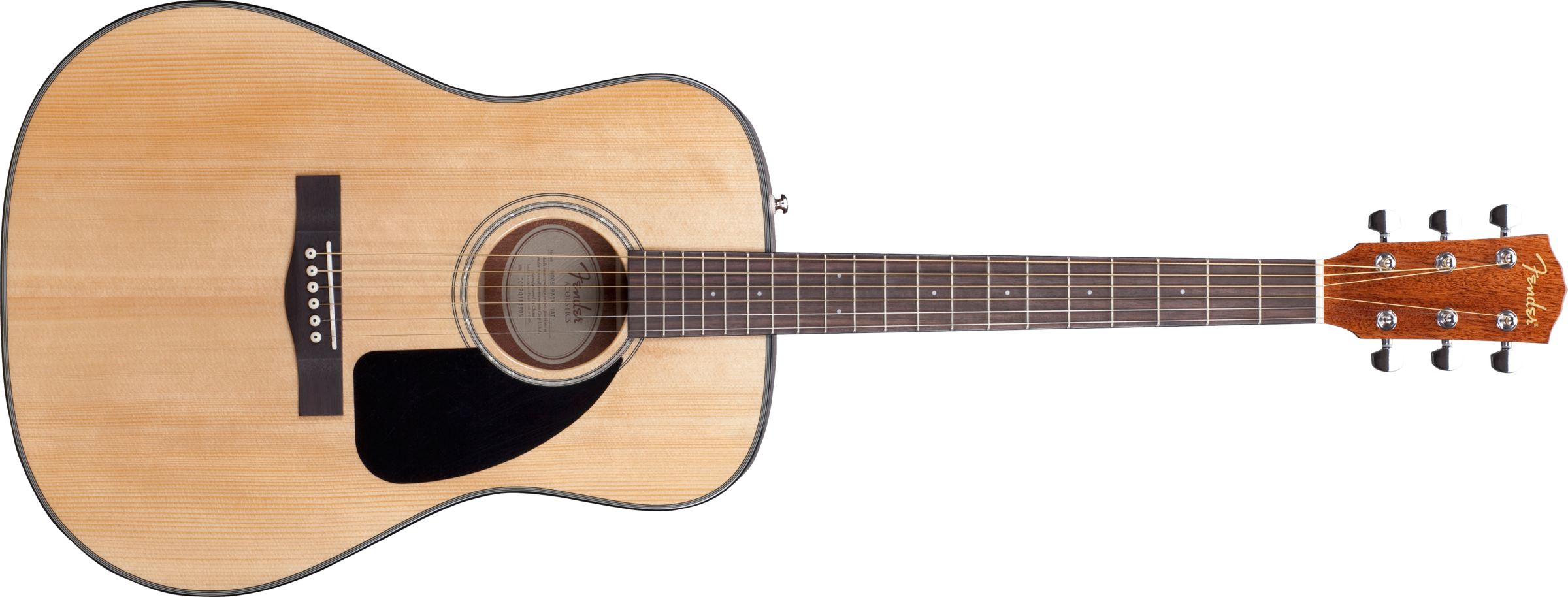 Fender® DG-8S Acoustic Pack, Solid Spruce Top, Mahogany Back and Sides, Natural