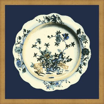 Ashton Wall Décor LLC \'Porcelain Plate I\' Framed Graphic Art Print ...