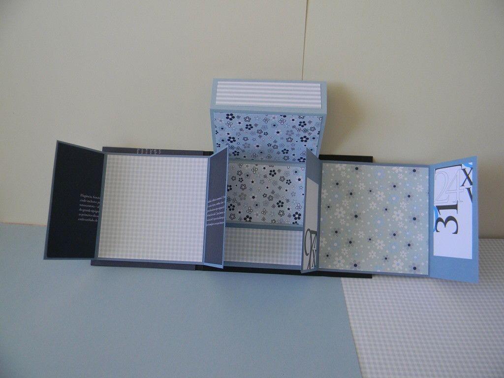 Lind�ssimo �lbum confeccionado com t�cnicas de scrapbook, papeis 180gr, com detalhes decorativos