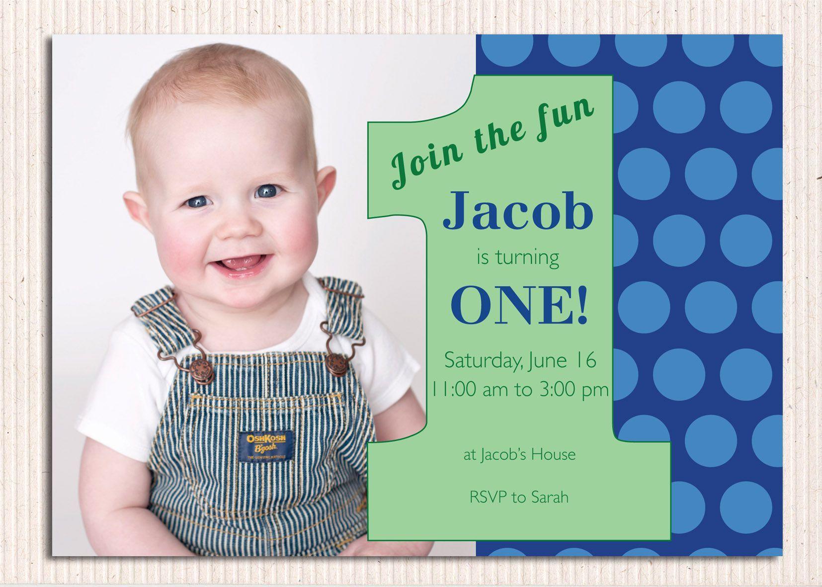 First Birthday Invitations 1st Birthday Invitations Boy