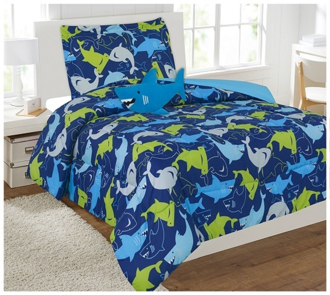 6 Piece Twin Size Comforter and Sheet Set Bed in a Bag