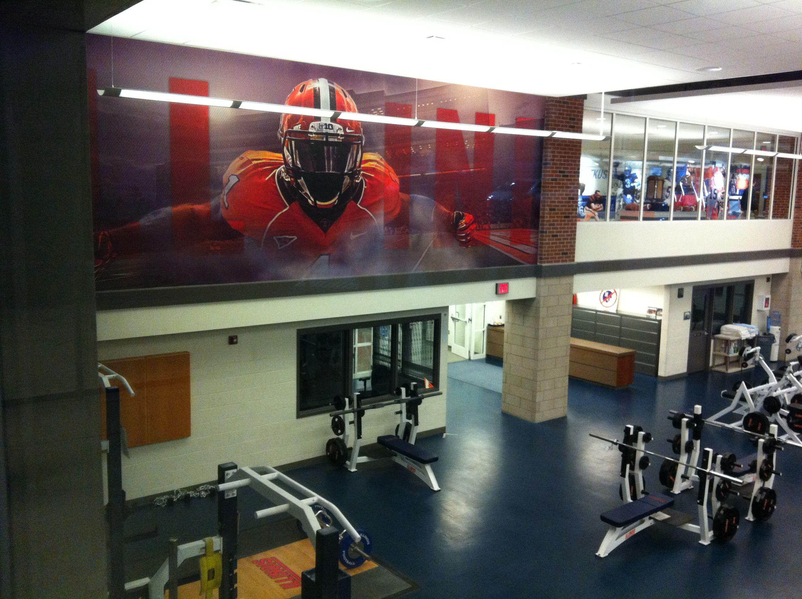 Illinois Football weight room Illinois football