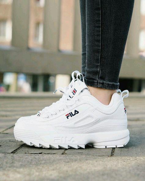 White fila shoes | Sapatos en 2019 | Zapatos, Zapatillas y ...
