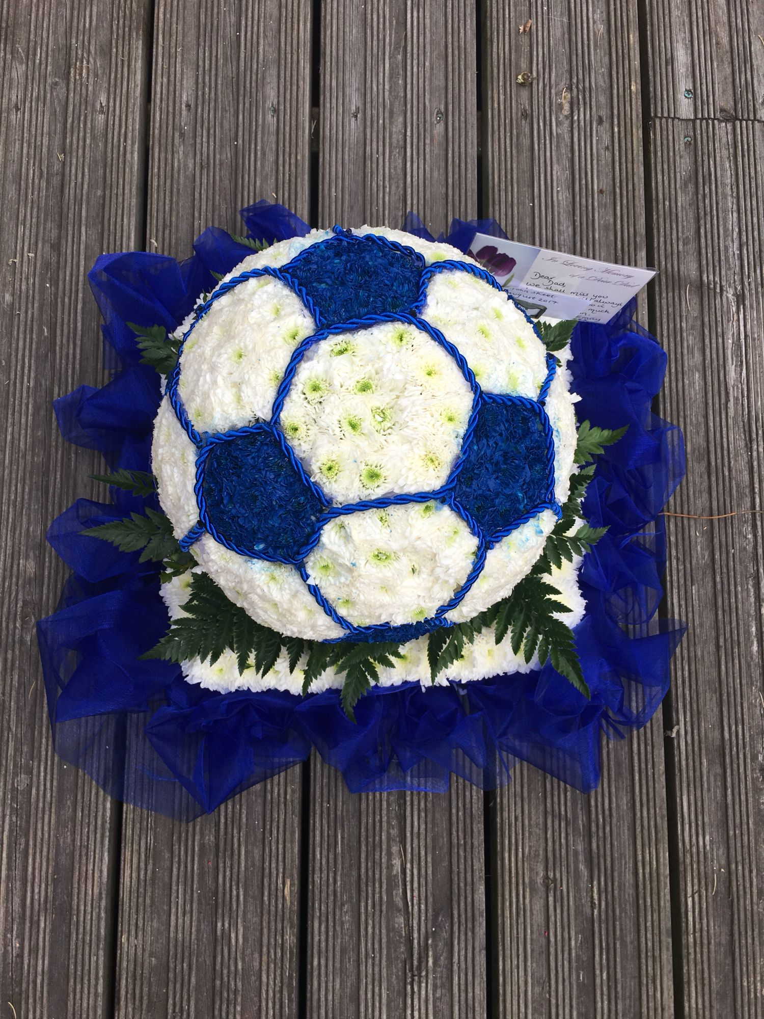 Football funeral flower tribute animalitos y flores pinterest football funeral flower tribute izmirmasajfo