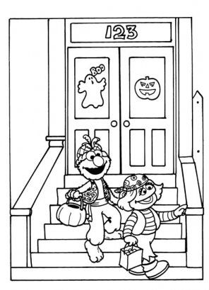elmo halloween coloring page | Halloween | Pinterest | Colorear