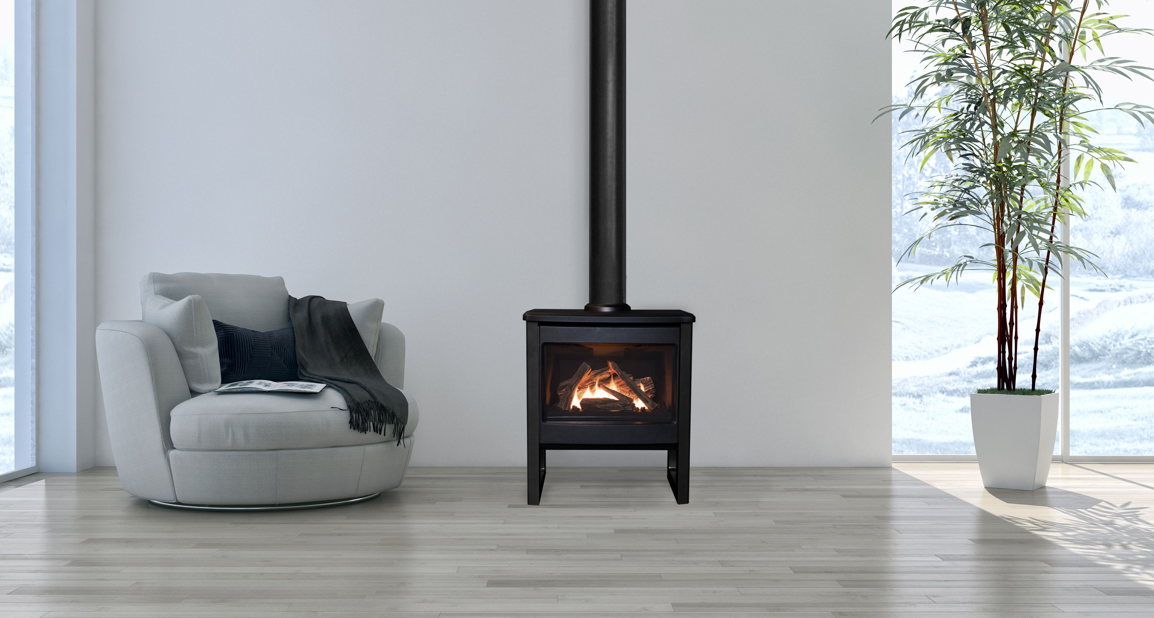 Valor Madrona Freestanding Fireplace Wood Burning Stoves Living Room Gas Fire Stove