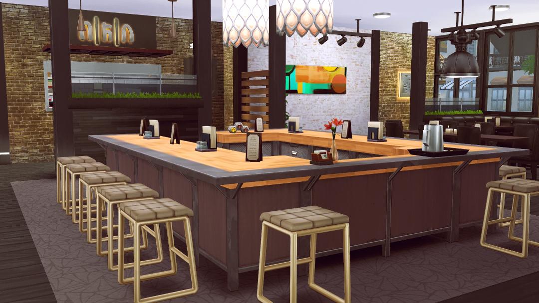 Pin By Dana Evgenevna Belova On Sims 4 Modern Restaurant Sims