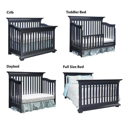 Oxford Baby Harlow 4 In 1 Convertible Crib Navy Midnight Slate Oxford Baby Babies R Us Cribs Convertible Crib Crib Toddler Bed 4 in 1 convertible cribs