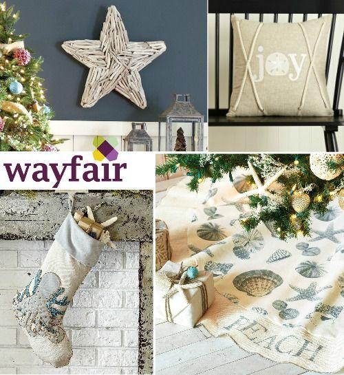 coastal christmas decor at wayfair httpwwwcompletely coastal com201611coastal beach nautical christmas online shoppinghtml