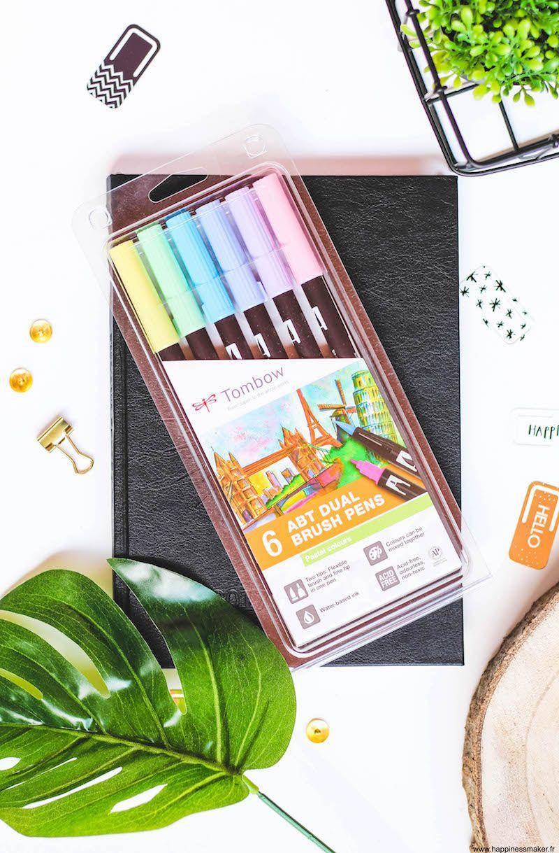 Abt Brush Pen De Tombow Des Feutres Pinceaux Aux Couleurs Pastel