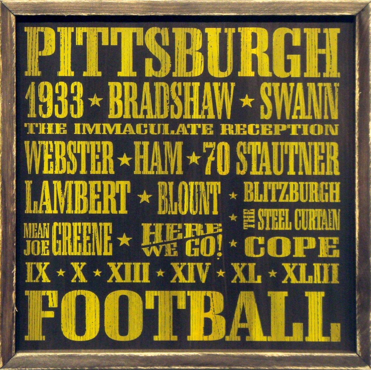 Country Marketplace - Vintage Pittsburgh Steelers Wood Sign 18\