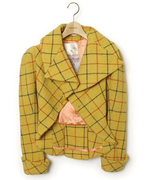 Vivienne Westwood チェック柄ウールジャケット【HARRIS TWEEDコラボ】