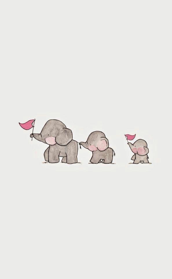 Cute Illustration Cute Drawings Iphone Wallpaper Kawaii Elephant Phone Wallpaper Cute Desktop