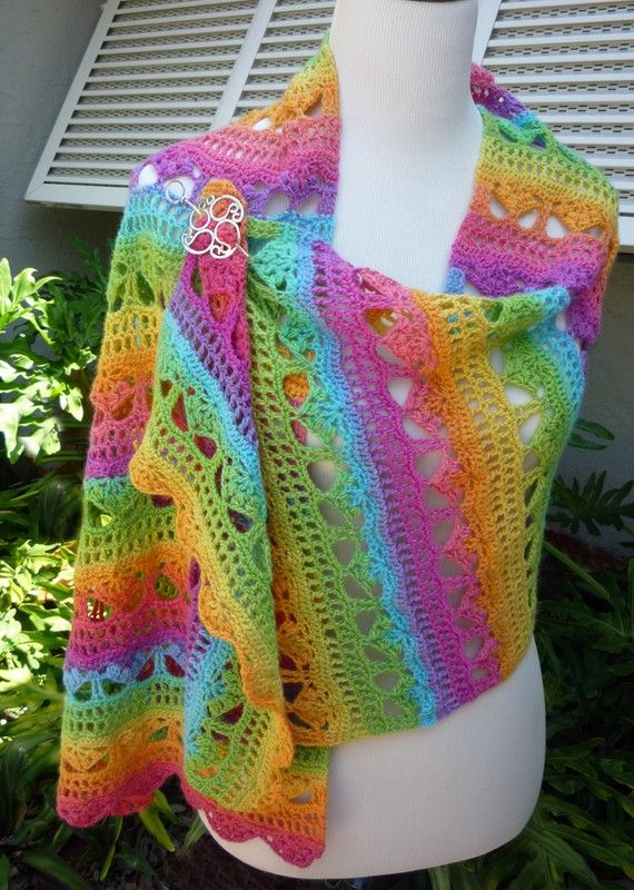 Cascading Stylish Shawl Crochet - PATTERN / PDF | Pinterest | Schals ...