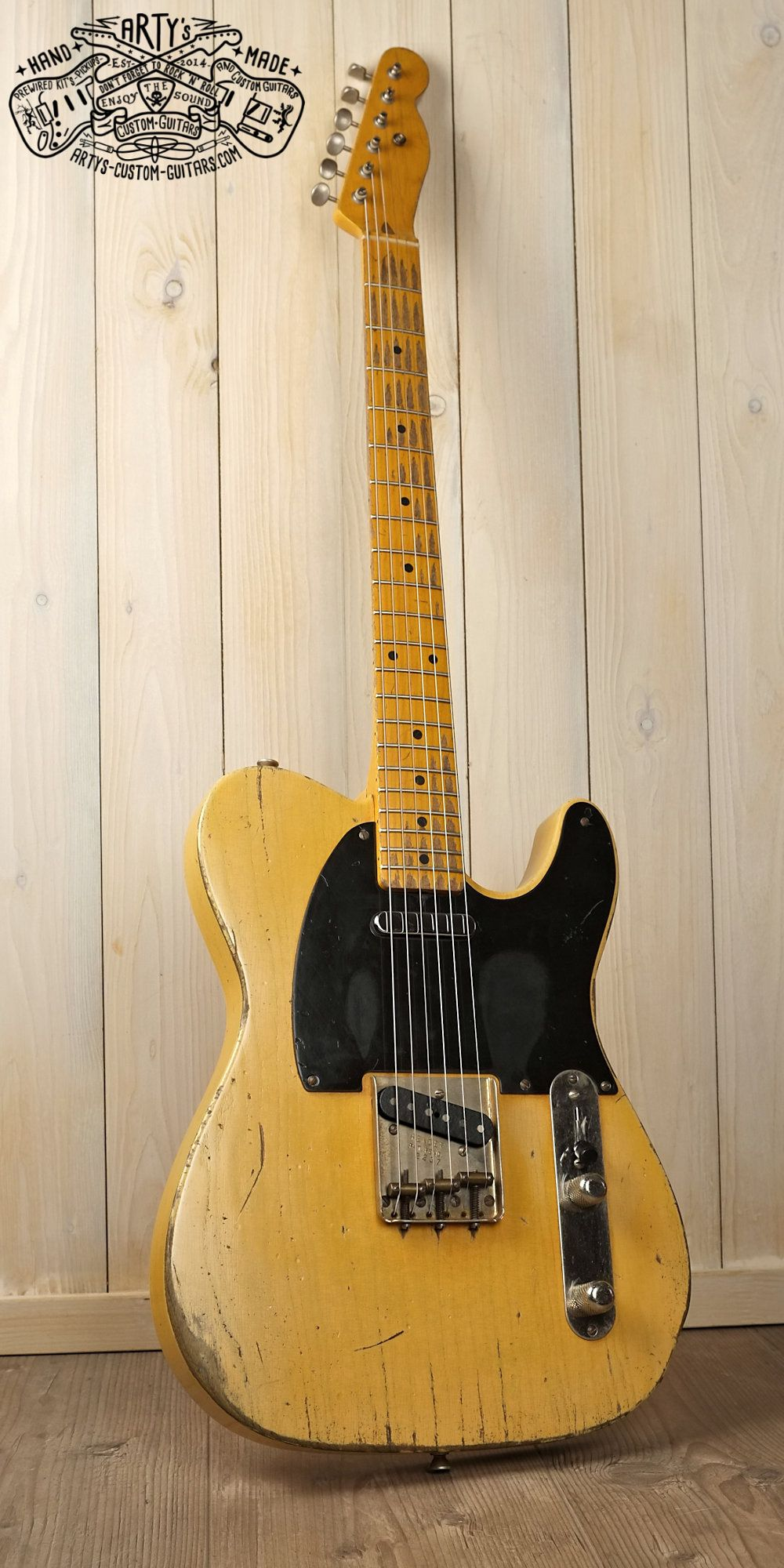Broadcaster Butterscotch Blonde Telecaster Heavy Relic Tele Maple Epi Vs Gibson Selector Switch Mylespaulcom Neck Swamp Ash Body Bakelite Pickguard Aged Nitro Finish Artys Custom Guitars