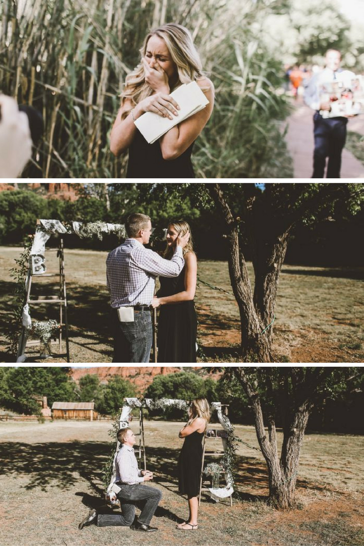 this guy's proposal is everything you'd want in a marriage proposal