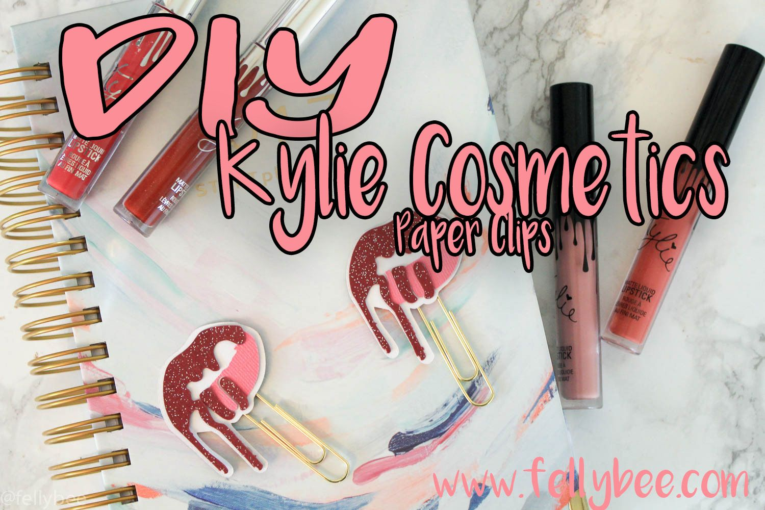 FREE download to make the Kylie Cosmetics planner clip!