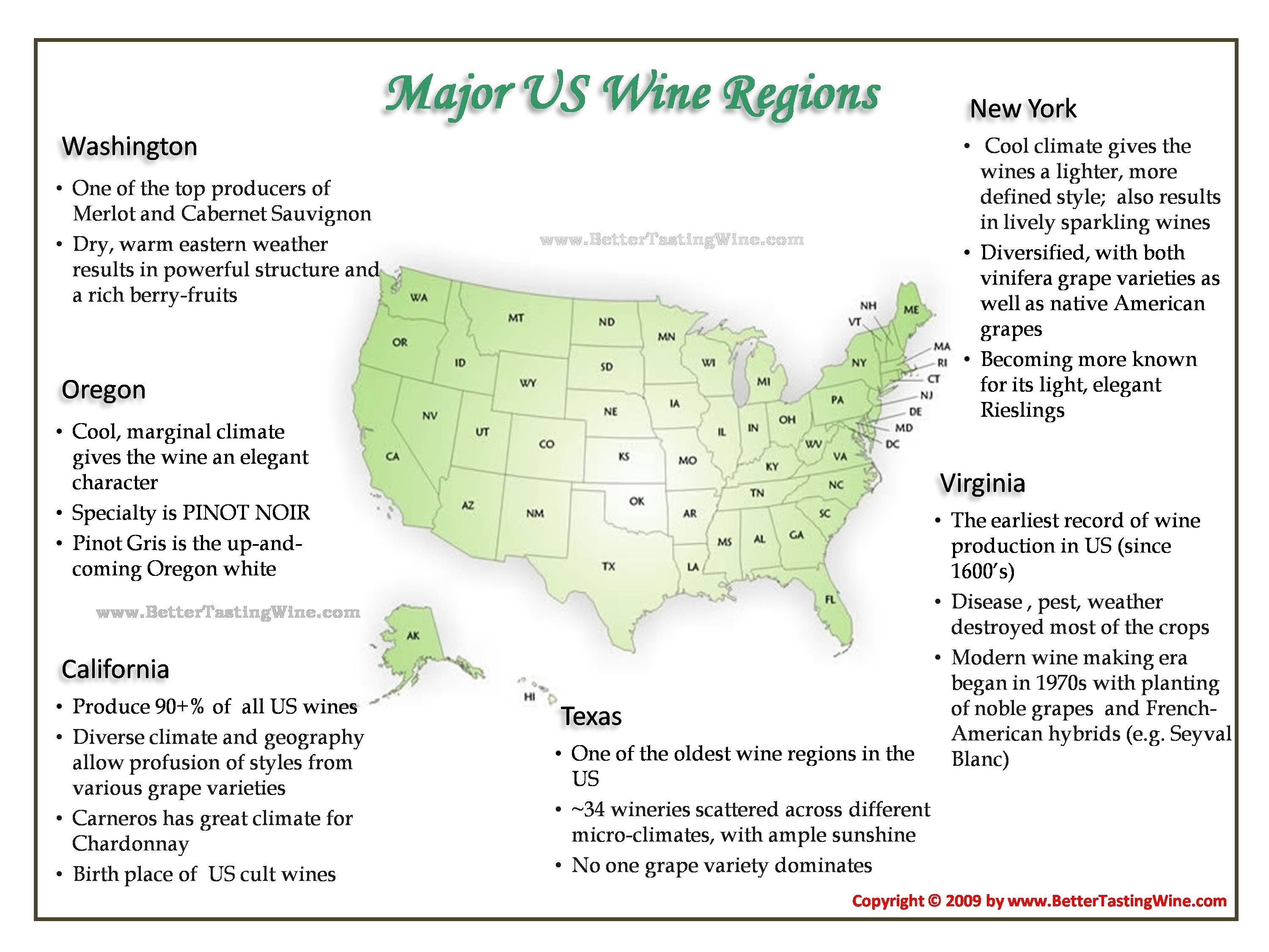 US Wine Regions Le Journal Du VinLiban Pinterest Wine - Us wine regions map