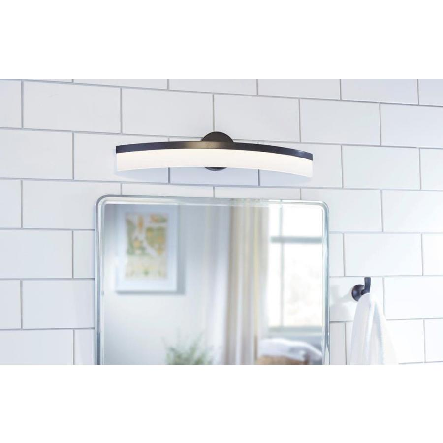 Allen Roth Lynnpark 1 Light 27 In Matte Black Led Vanity Light At Lowes Com Modernledbathroomvanitylighti Vanity Light Bar Vanity Lighting Led Vanity Lights
