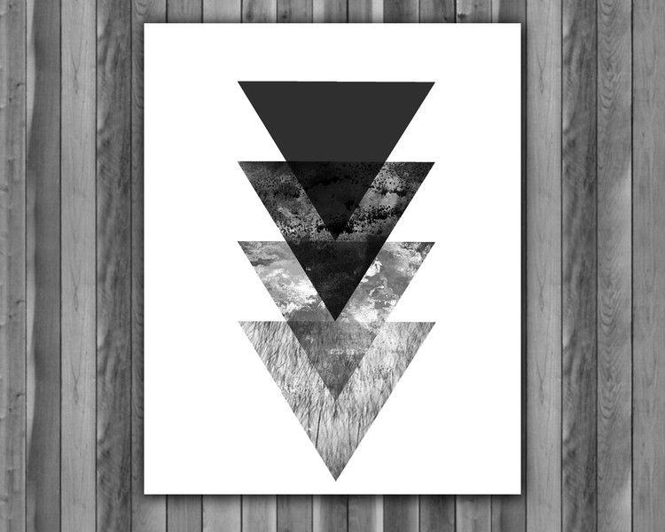 Digital printing – Scandinavian Abstract modern geometric art – a unique product by Irene913 on DaWanda